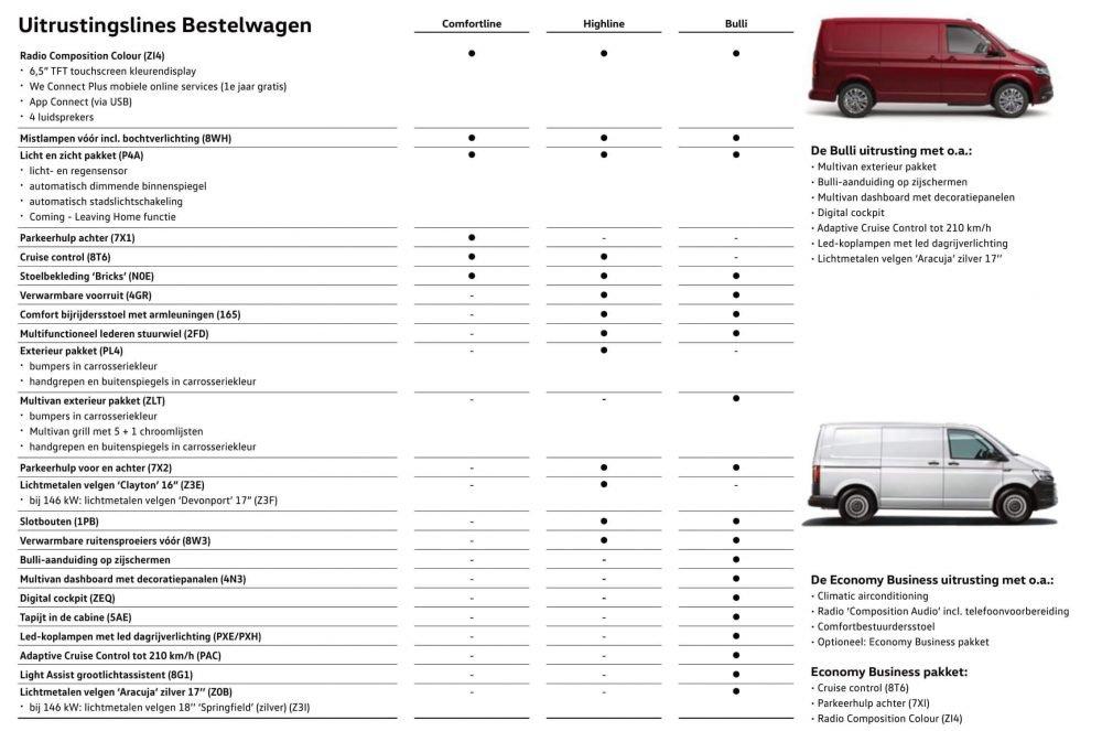 volkswagen transporter brochure