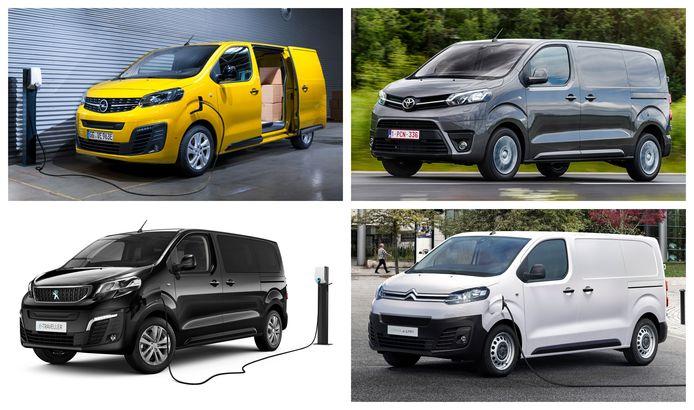 verschillen elektrische bestelwagens met subsidie